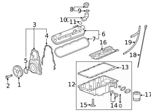 Gm 12633904 Timing Cover Gasket