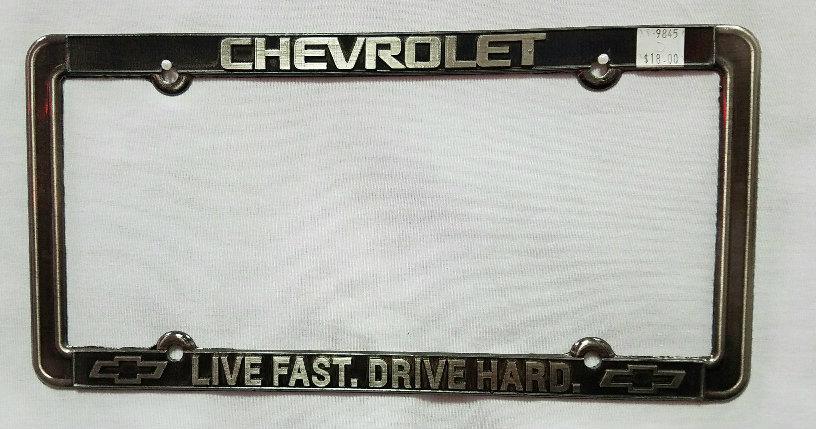 Chevrolet Live Fast, Drive Hard License Plate Frame   Dale Earnhardt ...